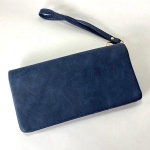 LBB Blue Wristlet Snap Wallet